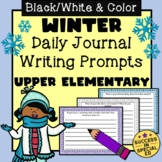 Winter Daily Journal Writing Prompts for Upper Elementary