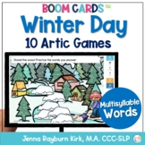 Winter Day: Multisyllable BOOM Cards™️  for Distance Learn