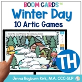 Winter Day: TH Sound BOOM Cards™️  for Distance Learning Speech Therapy