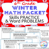 6th Grade WINTER / December MATH PACKET - { COMMON CORE Assessment }