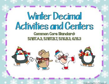 Winter Decimal Activities