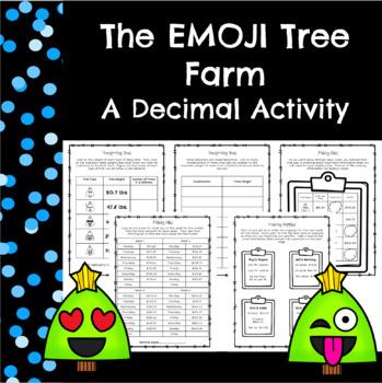 Winter Decimal Activity-The EMOJI Holiday Tree Farm