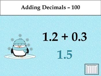 Winter Decimal Game - Similar to Jeopardy