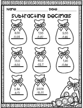 Winter Decimal Practice