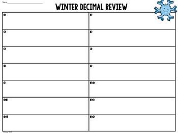 Winter Decimal Review