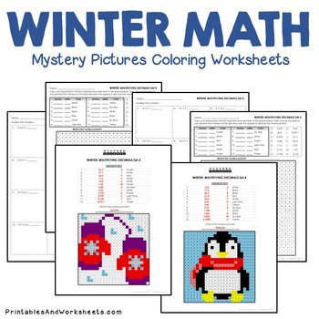 Adding Subtracting Dividing Multiplying Decimals, Winter Decimal Operations