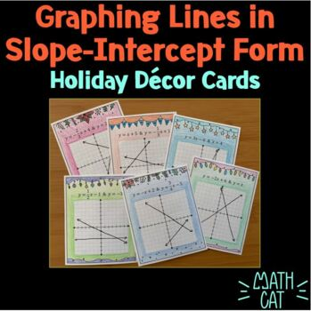 Winter Decor Cards- Graphing Systems of Linear Equations in Slope-Intercept Form