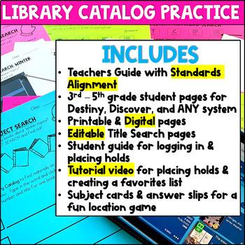 Destiny Library Catalog Practice: Winter Edition
