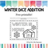 Winter Dice Addition {COLORING PAGE!}