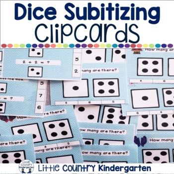 Winter Dice Subitizing Clip Cards 1-10