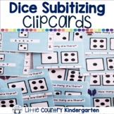 Winter Math Centers: Dice Subitizing Clip Cards 1-10