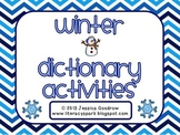Winter Dictionary Activities - 5 {ABC Order, Guide Words}