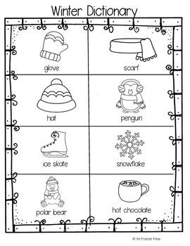Winter Dictionary Freebie