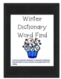 Winter Dictionary Word Find
