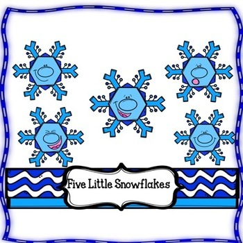 Winter Differentiated Book, Interactive, 5 Little Snowflakes