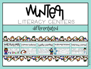 Winter Differentiated Literacy Centers