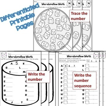 Numbers 1-20, Subitizing Differentiated Winter QR Code Task Cards & Pages