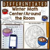 Numbers 1-20, Subitizing Differentiated Winter QR Code Tas