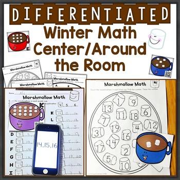 Numbers 1-20, Subitizing Differentiated Winter QR Code Tas