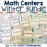 Winter Math Centers Kindergarten Bundle: Clipcards,Ten Frames, and Numbers