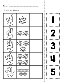 Winter Differentiated Math Worksheets