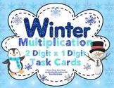 Winter Multiplication  (2 Digit x 1 Digit) Task Cards