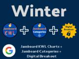 Winter Digital Bundle (Jamboard KWLs, Categories, Digital