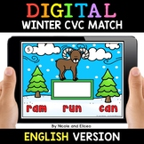 Winter Digital CVC Word Work for Google Classroom 2 - Dist