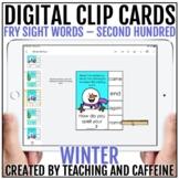 Winter Digital Clip Cards   Sight Word Activities   Fry SE