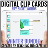 Winter Digital Clip Cards   Sight Word Activities   Fry Si