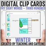 Winter Digital Clip Cards   Sight Word Activities   Fry TH