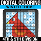 Winter Digital Math Mystery Picture Long Division - Digita