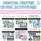 Winter Digital Music Games Bundle for Distance/Virtual Learning