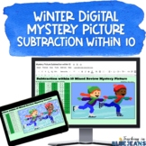 Winter Digital Mystery Picture for Subtraction within 10 |