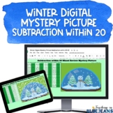 Winter Digital Mystery Picture for Subtraction within 20 |
