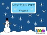 Winter Digital Paper Freebie