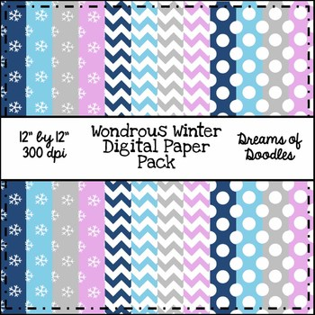 Wondrous Winter Digital Paper Pack
