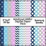 Wondrous Winter Digital Paper Pack