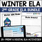Winter Digital & NO PREP Printable ELA Activities Bundle f