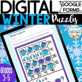 Winter Digital Puzzles for Google Forms™ | January Math En
