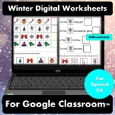 Winter Digital Worksheets for Special Education | Distance