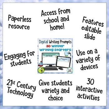Winter Digital Writing Prompts for Google Drive®