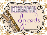 Winter Digraph Clip Cards (Lowercase and Uppercase Letters)