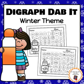 Winter Digraph Dab It Worksheets