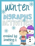 Winter Digraphs Activities Bundle Sh, Th, Ch, Wh