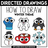 Winter Directed Drawing / Learn To Draw Activity Sheets