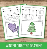 Winter Directed Drawing - Winter Activities for Kindergarten