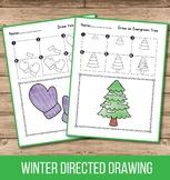 Winter Directed Drawing Winter Activities for Kindergarten