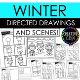Winter Directed Drawings and Scenes {Made by Creative Clips Clipart}