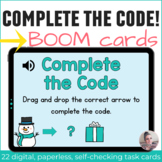 Winter Directional Coding Activities Digital Task Cards with Boom Cards
